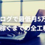 ブログでお金を稼ぐ方法〜最低月5万円稼ぐまでの全工程〜