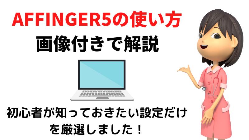 【初心者必見】AFFINGER5の使い方基礎!画像付きでわかりやすく解説