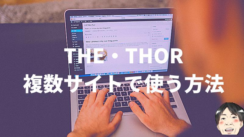 THE・THORは複数サイトに使用できない?年収270万ブロガーが注意点込みで解説