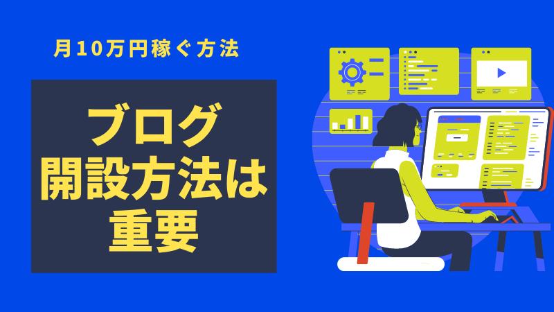 WordPressブログで収益化し、月10万円稼ぐまでの道〜ブログ開設編〜